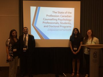 June 2016: Dr. Bedi at The Canadian Psychological Association Conference in Victoria, BC