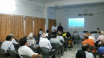 """July 2016: Dr. Bedi gives community presentation """"Psychological Interventions for Chronic Pain in Udaipur, India"""""""